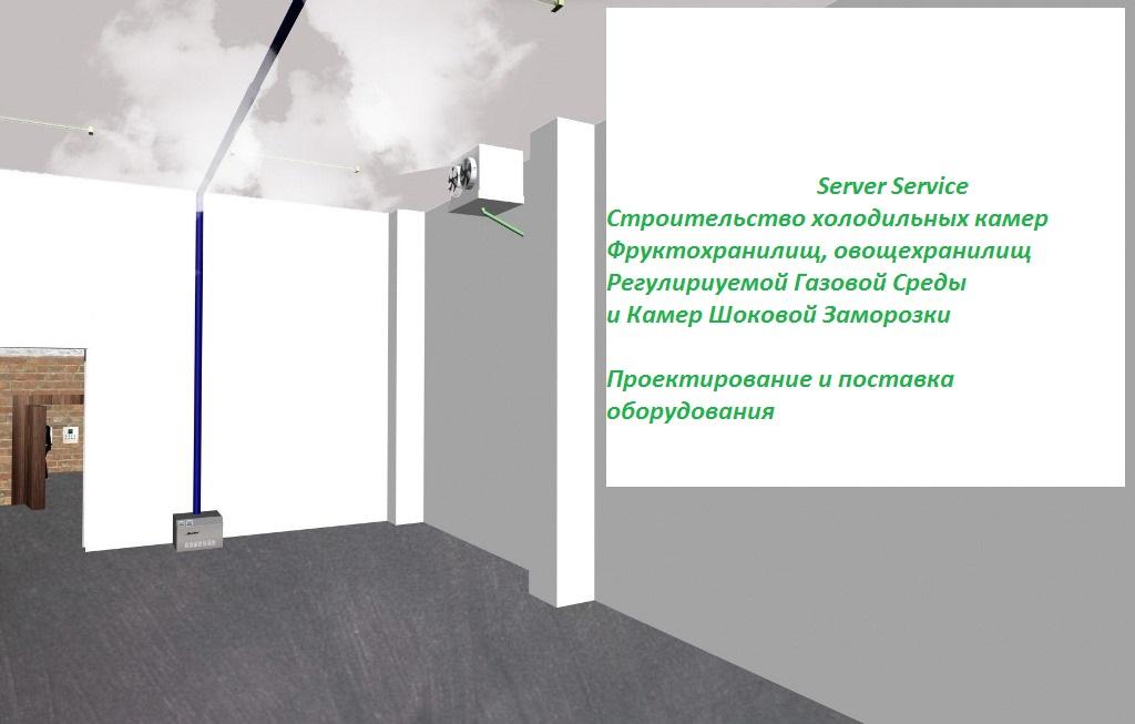 Холодильная камера для хранения фруктов. Server Service.